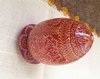 wooden Easter egg, Hand-painted egg