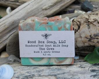 Musk & Leafy Greens Soap. Soap, Musk Soap. Bar Soap. Handmade Soap. Goat Milk Soap.