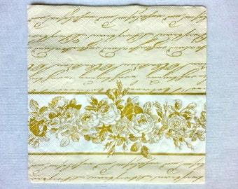 2 pcs. Decoupage FLOWERS vintage napkins,napkins for decoupage,lunch napkin, scrap booking & paper craft projects,mixed media