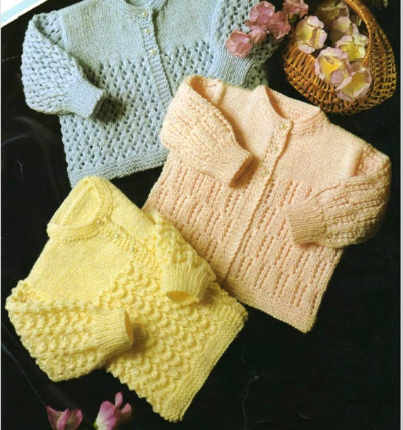 Knitting Pattern Lace Jacket : Knitting Pattern Baby Jacket lace cardigan PDF Instant