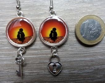 Lovers Sun sunset earrings