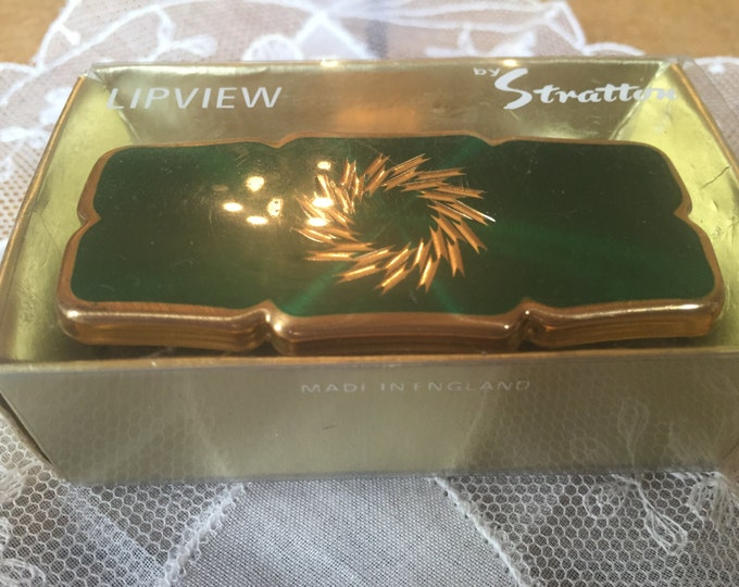 Vintage Stratton Boxed Lipstick Holder Lipview. Lipview. Lipstick Holder. Mirror compact. Lipstick Mirror compact