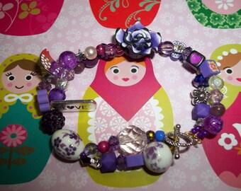 funky PURPLE bracelet