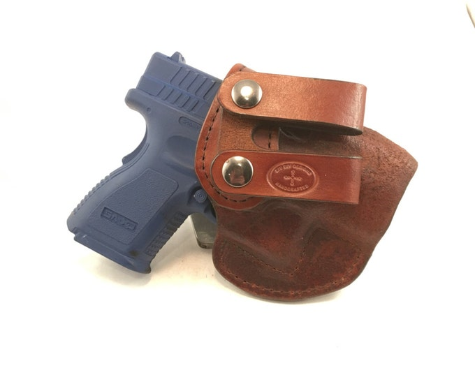 Springfield XD Sub-Compact 9/40 IWB - Handcrafted Leather Pistol Holster