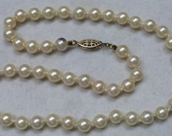 Single Strand Japanese Akoya cultured Pearl necklace