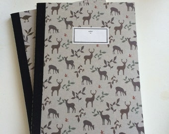 Hand stitched Deer Notebook