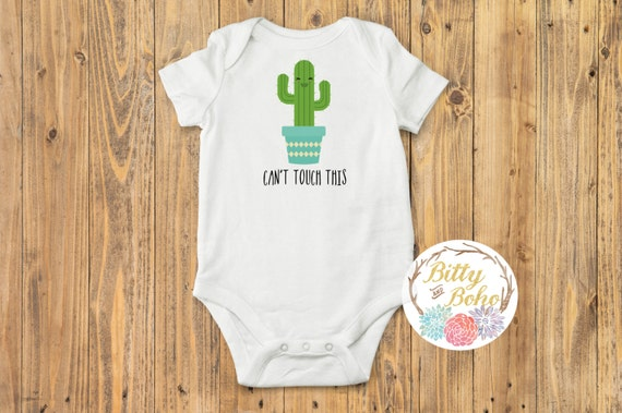Cactus Onesie 174 Cant Touch This Onesie Baby Shower By
