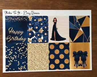 September Birthday Build Your Own Kit Day Boxes Erin Condren ECLP Mambi Inkwell Press Filofax Kikki K Happy Life Glitter Stickers Sapphire