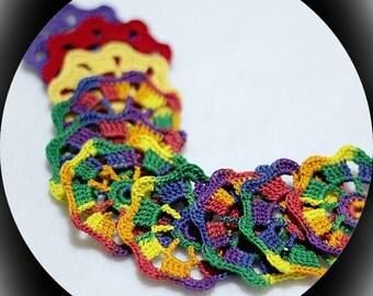 Custom crochet flower appliques; flower embellishments; thread crochet flowers; custom appliques; made to order; handmade crochet flowers