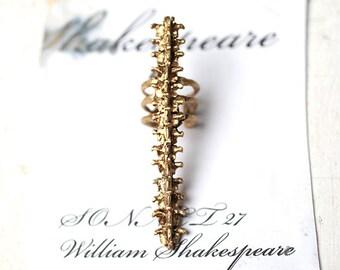Spine long ring Brass