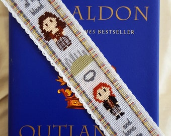 Outlander Cross Stitch Bookmark Pattern, Modern Diana Gabaldon Cross Stitch Pattern