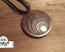 Laser Engraved Bassnectar 3rd Generation Logo Solid Wood Necklace Pendant (Necklace Not Included)