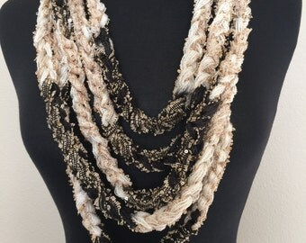 Crochet Chain Necklace Scarf
