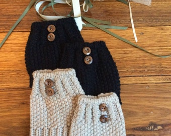 Soft and warm pair of boot cuffs / button boot cuffs / boot socks / boot toppers / boot warmers