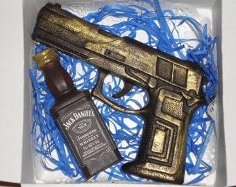 "Set soap ""Gun and Whiskey"""