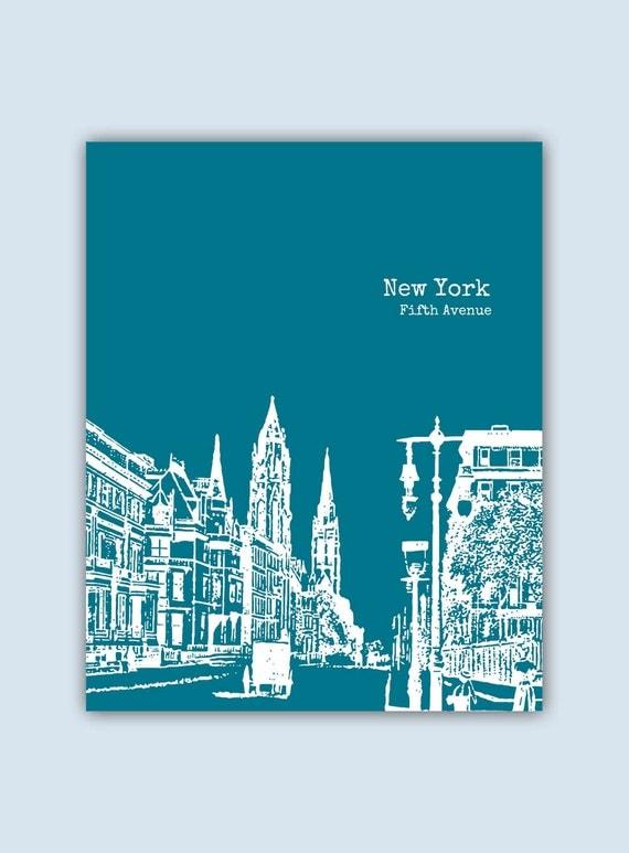 Wedding Gift Nyc : New York Print, New York Wall Art, Wedding Gift, New York Art Print ...