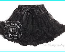 Black Pettiskirt, Premium Tutu, Posh Fancy Petticoat, Ruffle Baby Skirt, Baby Tutu, Toddler Girl Party Skirt, photography props, 1st bday