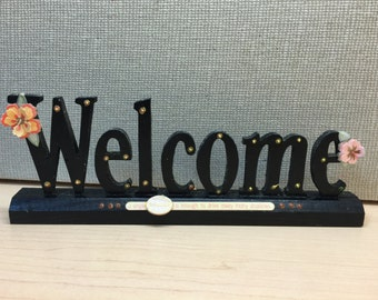 Welcome Sign, Wooden Welcome Sign, Handmade Wooden Welcome Sign