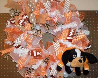 Vols Wreath/ University of Tennessee Wreath/ UT Vols Football Wreath/ UT Smokey Wreath/ UT Vols Front Door Decor