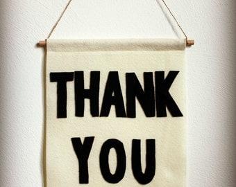 Thank You Felt Banner