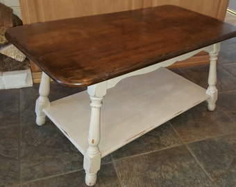 French Country Shabby Chic Heywood Wakefield Coffee Table