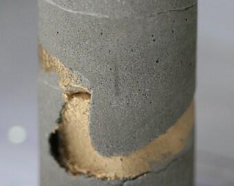 Rustic Industrial Concrete Candleholder; Urban Minimalist