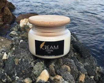Bora Bora Soy Candle 15 oz jar by Cream Candle Co.