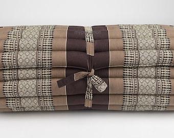 Jumbo Size Kapok100% Thai Roll Up Mat Fold Out Mattress Cushion Day Bed Camping