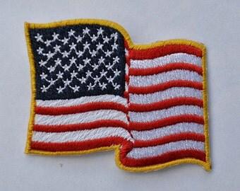 Iron on Wavy American Flag