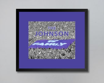 Personalized K-State Family Flag Print Wall Art