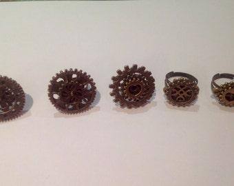 Layered Steampunk Gear Ring