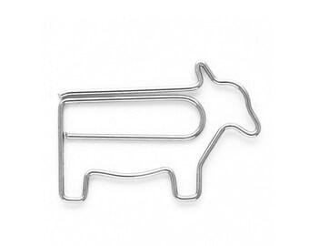 1 Cow Paper clip metal bookmark