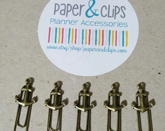 1 Anchor Paperclip Bookmark