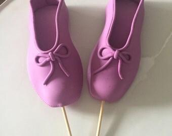 Edible Ballerina slippers cake topper gumpaste/fondant purple ready to go!