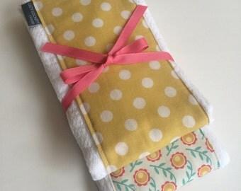 Baby Burp Cloth Set, Baby Gift, Burp Rag,