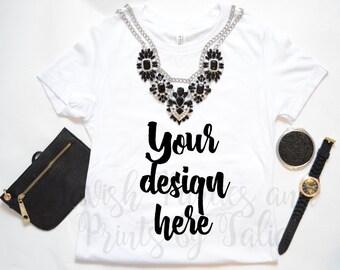Tshirt Mockup/ T-Shirt Mockup/ Styled Stock Photography / Styled Tshirt/ Product Styling /  Styled Photography