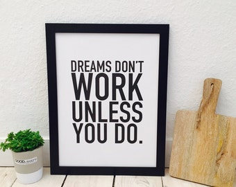 Dreams poster print