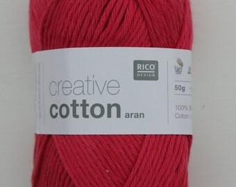 Rico Creative Cotton Aran Fuchsia 013