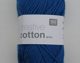 Rico Creative Cotton Aran Royal Blue 039