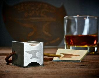 Stainless Steel Cigar Rest - The BRIK  - Cigar Ashtray - Cigar Holder