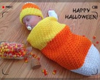 Fall Baby Cocoon and Hat