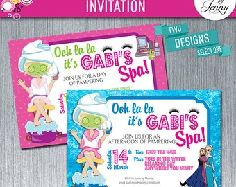 PAMPER/SPA PARTY birthday invitation - Made to Order