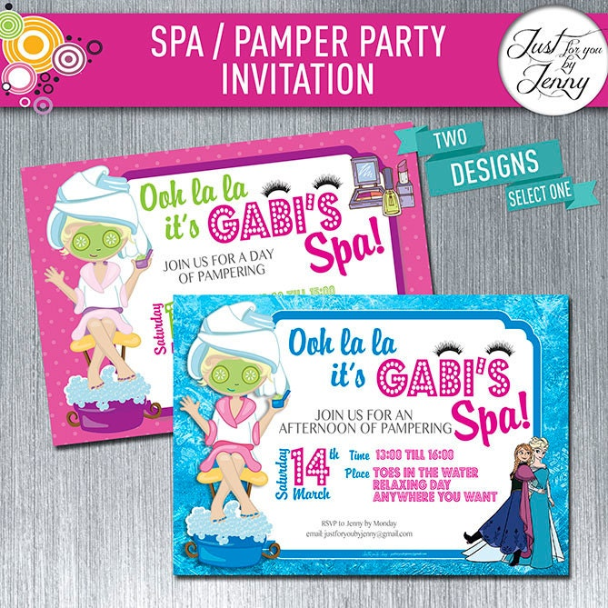 35 Year Retirement Party Invitation Whatsapp Invitations On PAMPER SPA PARTY Birthday Made To Order