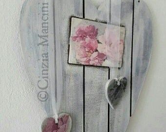 Vintage Roses Heart