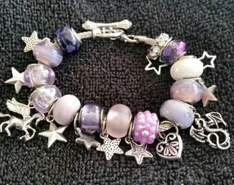 Starlight Pandora style charm bracelet