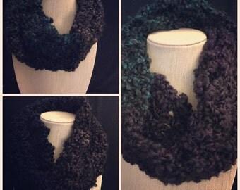 Tartan stripes circular scarf