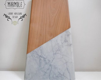 Marmole-marble and wood cutting board
