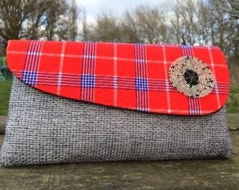 Masai fabric clutch