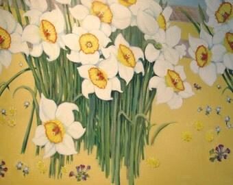 Daffodils by a Fence
