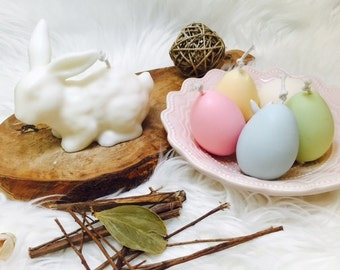 Easter Bunny & 4 Eggs